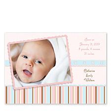 Baby Blocks Photo Birth Announcement Cards