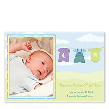 All Things Nice Baby Birth Announcement Photo Cards