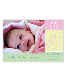Baby Girl! Photo Birth Announcement Cards
