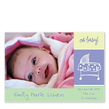Oh Baby! Photo Birth Announcement Cards