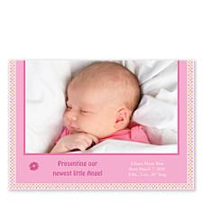 Rhyme Photo Birth Announcement Cards