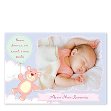 Simply Magic Baby Girl Birth Announcement Photo Cards