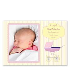 Bundle of Joy Pink Birth Announcement Photo Cards