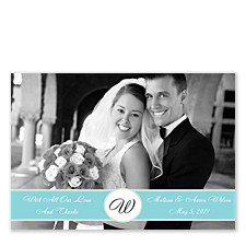 Elegant Photo Thank You Cards
