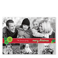 Stitchery Christmas Photo Cards
