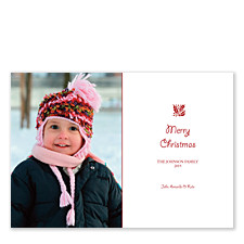 Touch of Holly Christmas Photo Cards