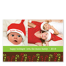 Candy Canes Photo Christmas Cards
