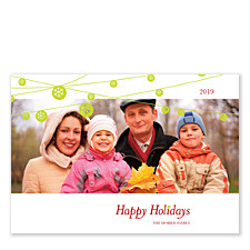 Ornaments on a String Photo Christmas Cards