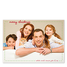 Dotted Frame Christmas Photo Cards