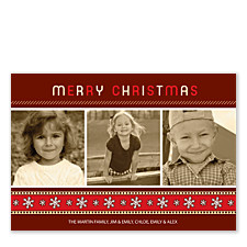 Christmas Trio Christmas Photo Cards