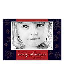 Snowflake Christmas Photo Cards