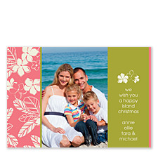 Paradise Horizontal Holiday Photo Cards