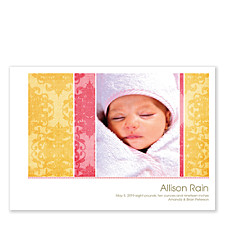 Juicy Photo Birth Announcement Cards