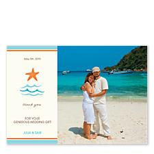 Beach Wedding Thank You Cards
