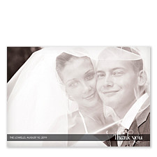 Perfect Gift Wedding Thank You Photo Cards