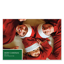 Basic Geo Holiday Photo Cards