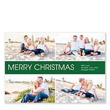 Mid Banner Christmas Photo Cards
