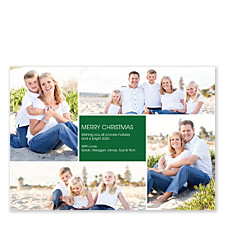 Floating Square Center Holiday Photo Cards