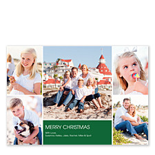 Floating Rectangle Center Holiday Photo Cards