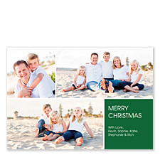 Floating Square Right Holiday Photo Cards