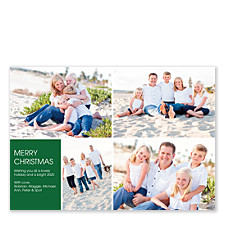 Floating Square Left Holiday Photo Cards