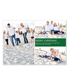Mid Right Rectangle Holiday Photo Cards