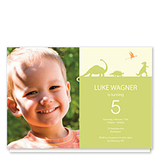 Dinosaur Invite Photo Kid Party Invitations