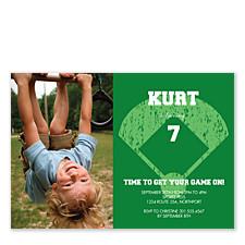 Baseball Invite Photo Kid Party Invitations