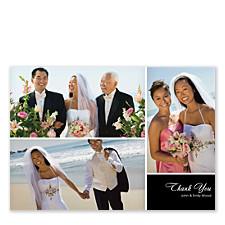 Three Photo Floating Box Wedding Thank You Photo Cards