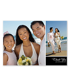 Two Photo Floating Box Wedding Thank You Cards