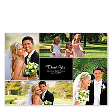 Floating Center Box Wedding Thank You Cards