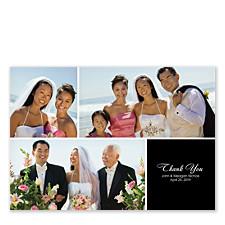 Floating Left Box Photo Wedding Thank You Cards