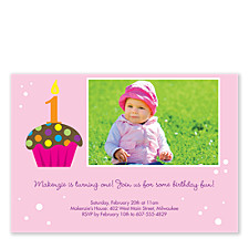 Sprinkles on Top Kid Birthday Party Invitations