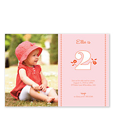 Two Pink Baby Party Invitations