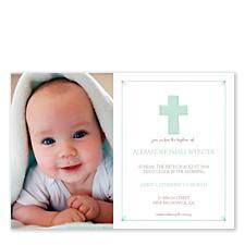 Baptism Invite Boy Baby Party Invitations