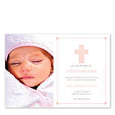 Baptism Invite Girl Baby Party Invitations