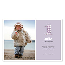 Purple Stripes Baby Party Invitations