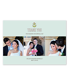 Woodsy Floral Three Wedding Thank You Cards