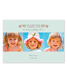 Woodsy Floral Two Thank You Cards