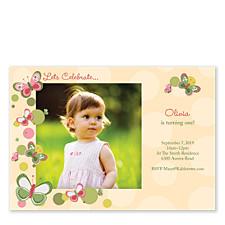 Let's Celebrate Kids Photo Party Invitations