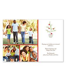Love Tree Christmas Photo Cards