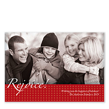 Rejoice Holiday Photo Cards