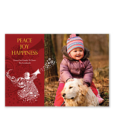 Peace Joy Happiness Christmas Photo Cards