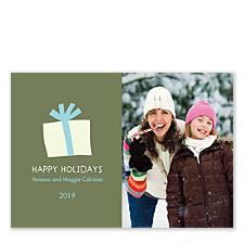 Gift Box Christmas Photo Cards
