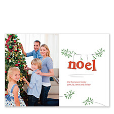 Noel on a Branch Christmas Photo Cards
