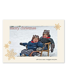 Cluster of Snowflakes Holiday Photo Cards