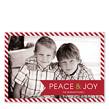 Peace Ribbon Holiday Photo Cards