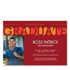 It's Academic Graduation Invitation Photo Cards