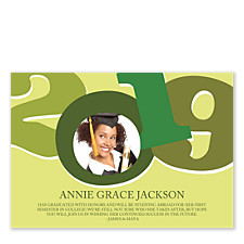 In the Center of it All Graduation Announcement Cards