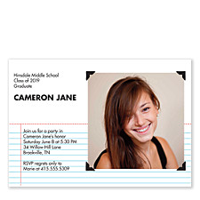 Stay in Line Graduation Invitation Cards